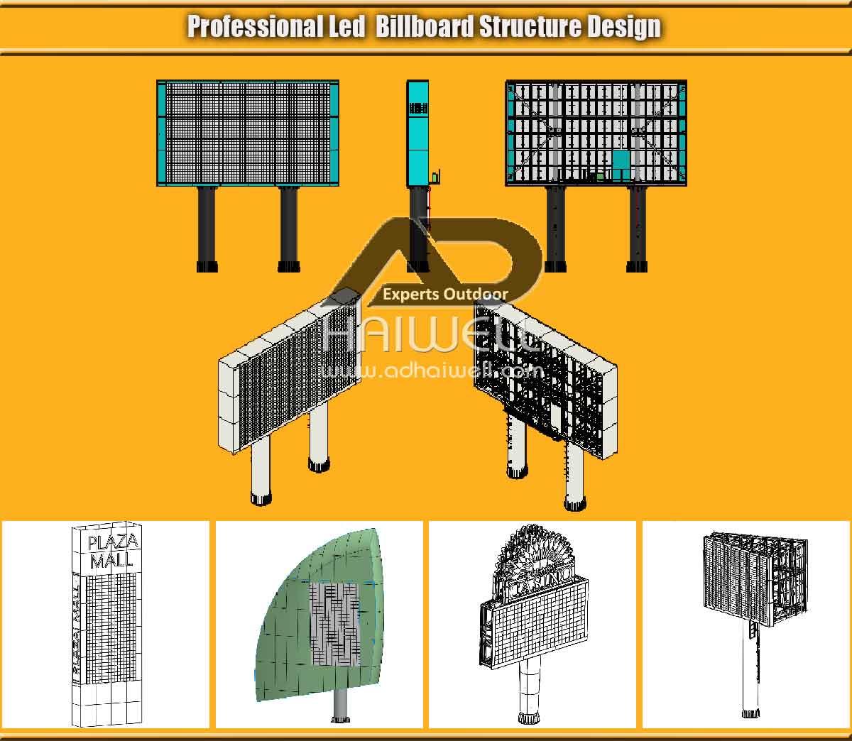 Profissional-LED-Billboard-Estrutura-Design