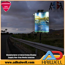 Estruturas Solar Powered LED Aço Digital Advertising Billboard